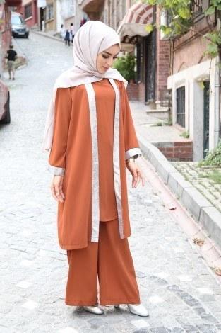 Ceket Tunik Pantolon 3'lü Takım 92285-02 - Thumbnail