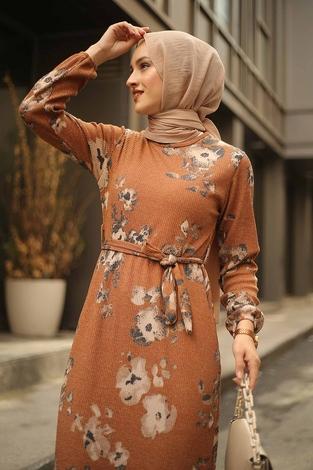 - Çiçek Desenli Elbise 2258-6 (1)