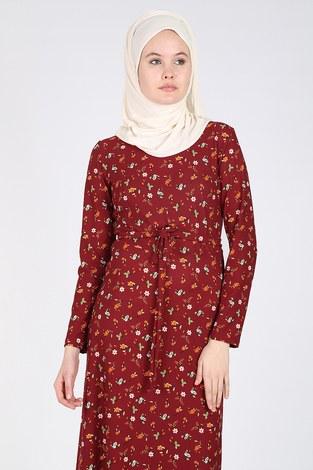 - Çiçek Desenli Elbise 8508-02 (1)