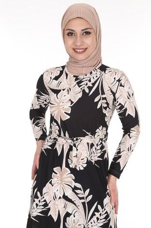 - Çiçek Desenli Elbise 8508-375 (1)