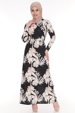 - Çiçek Desenli Elbise 8508-375