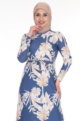 - Çiçek Desenli Elbise 8508-376 (1)