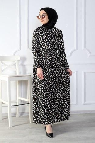 - Çiçek Desenli Elbise 8508-379 (1)