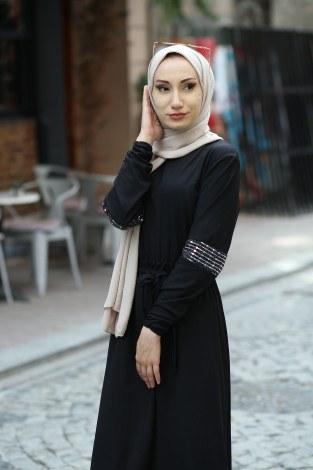 - Pul Payet Detaylı Elbise 4937-01 (1)