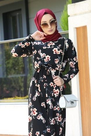 - Çiçek Desenli Elbise 8508-90 (1)