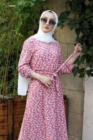 - Çiçek Desenli Elbise 5401-09 (1)