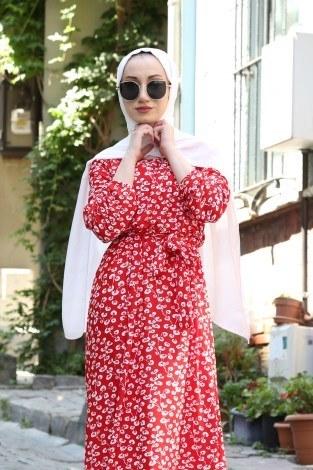 - Çiçek Desenli Elbise 5401-05 (1)
