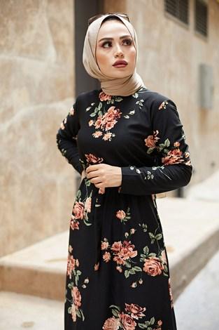 - Çiçek Desenli Elbise 8508-05 (1)