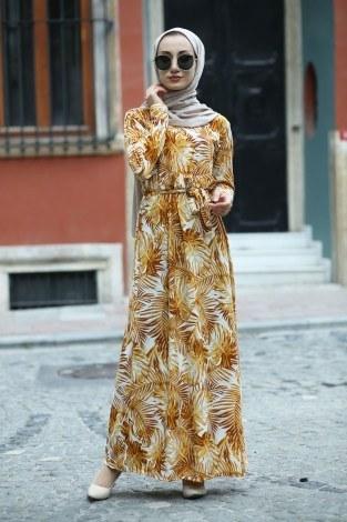 - Çiçek Desenli Elbise 8508-63