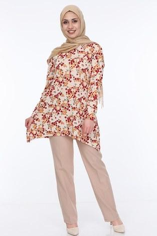 - Çiçek Desenli Tunik 5246-4
