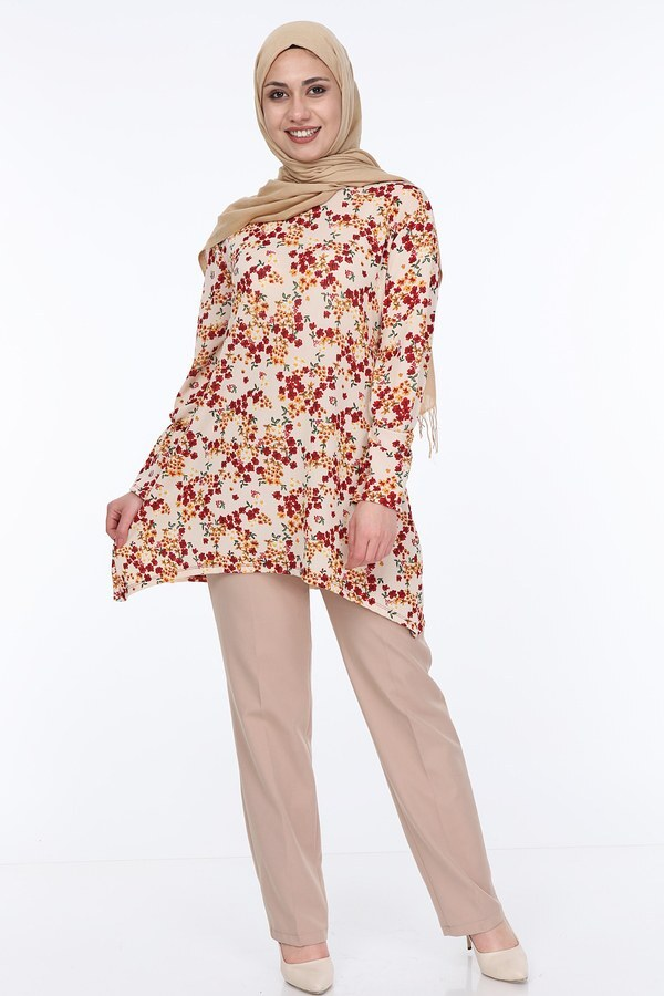 Çiçek Desenli Tunik 5246-4