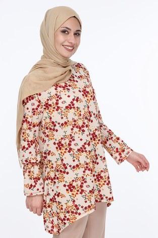 Çiçek Desenli Tunik 5246-4 - Thumbnail