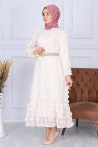 - Çiçek Detaylı Abiye Elbise 3345-2 (1)
