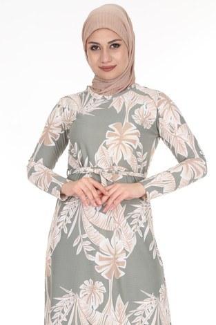 - Çiçek Desenli Elbise 8508-373 (1)