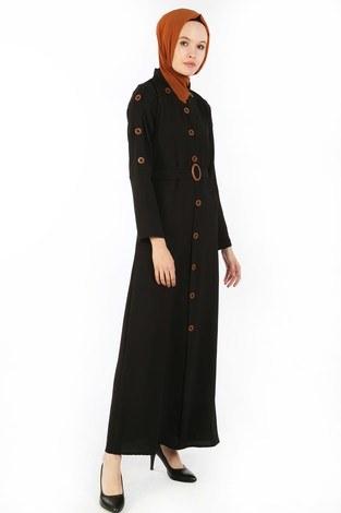 - Cift Düğmeli Elbise 6086-01