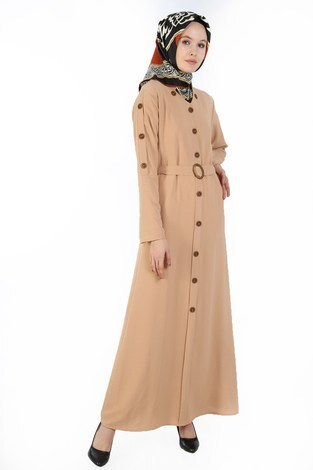 - Cift Düğmeli Elbise 6086-11
