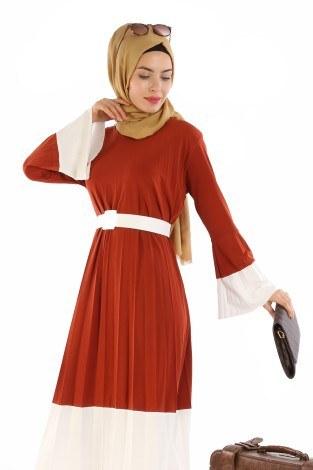 - Çift Renk Piliseli Elbise 0744-03 (1)