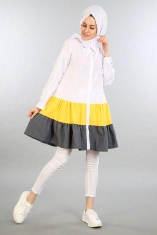 - Çift Renk Kat Kat Gömlek 2458-05