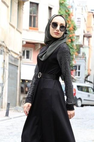 - Payet Detaylı Elbise 4118-01 (1)