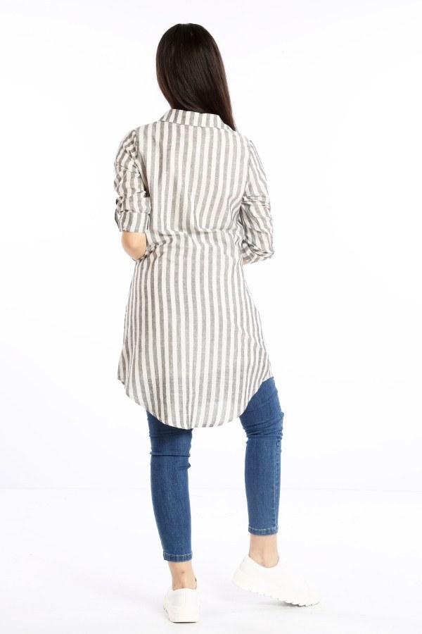 Çizgili Gömlek Tunik 5667-01
