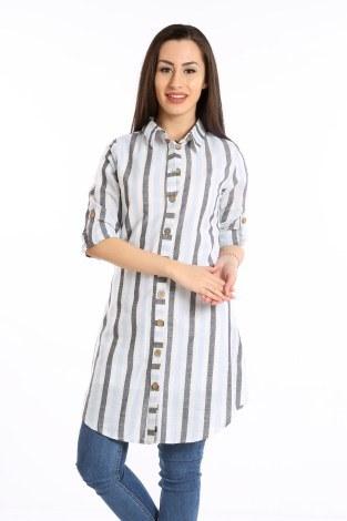- Çizgili Gömlek Tunik 5667-04 (1)