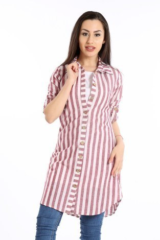 - Çizgili Gömlek Tunik 5667-05 (1)