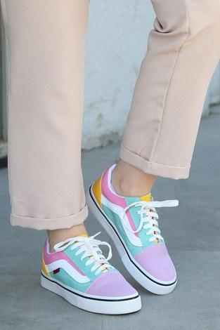 Çok Renkli Spor Ayakkabı 6157-6 - Thumbnail