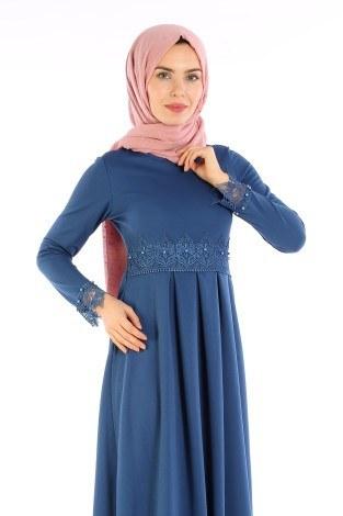 - Dantel İnci Detaylı Elbise 01659-03 (1)