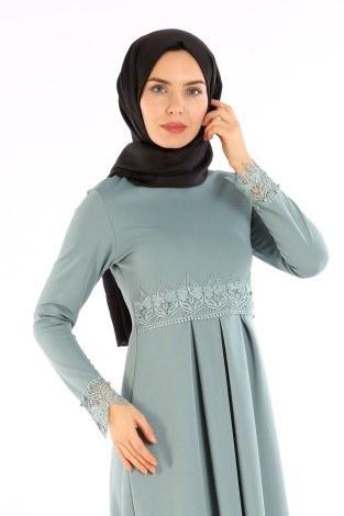 - Dantel İnci Detaylı Elbise 01659-04 (1)
