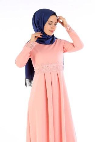 - Dantel İnci Detaylı Elbise 01659-07 (1)