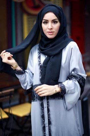 - Elif Nur Dantelli Abaya Ferace 8995-02 (1)