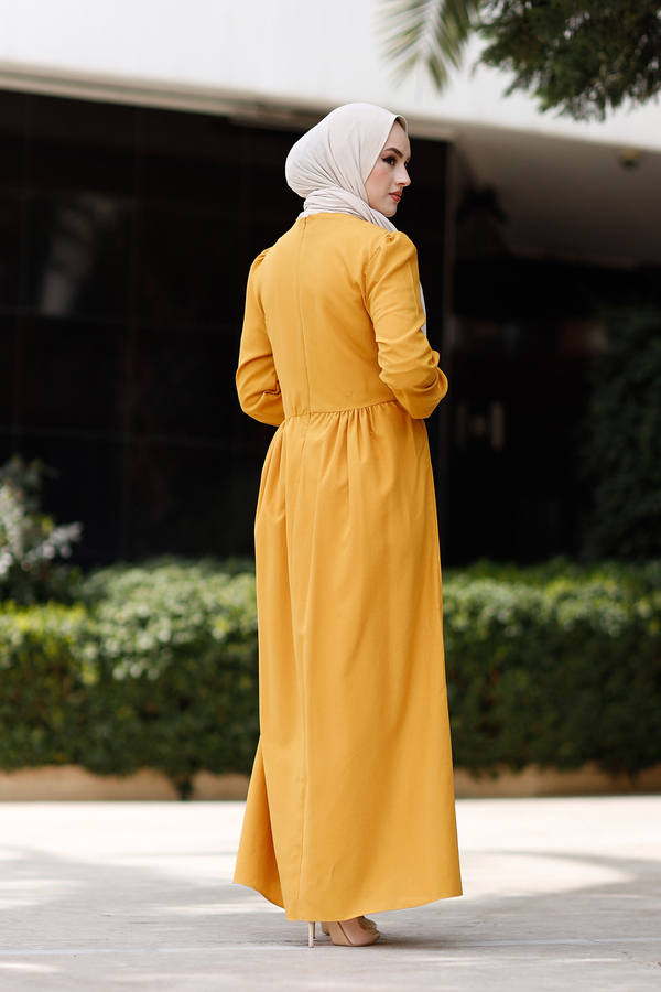 Dantelli Elbise 110SM-12545 Hardal