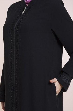 - Dantelli ve İnci Detaylı Ferace modahayme-8220-2-siyah (1)