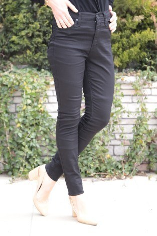 Dar Paça Pantalon 8503-3 Siyah - Thumbnail