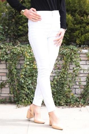 - Dar Paça Pantalon 8503-6 Beyaz (1)