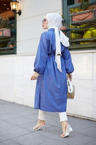 Denim Kimono 9943-1 - Thumbnail