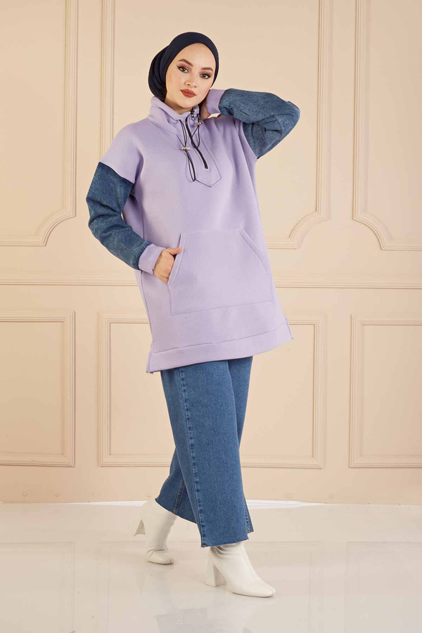 Denim Kol Sweat 160SAG3030 Lila