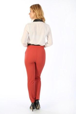 Deri Detaylı Pantolon 2009-18 - Thumbnail