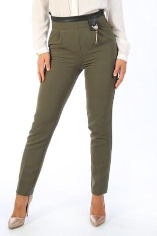 Deri Detaylı Pantolon 2009-04 - Thumbnail