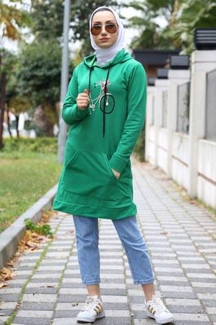 - Desen baskılı tunik 8802-06 yeşil (1)
