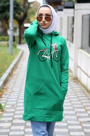 - Desen baskılı tunik 8802-06 yeşil