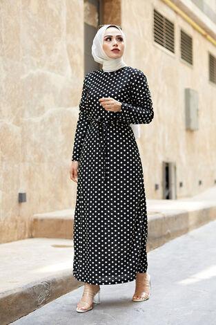 Desenli Çan Kesim Elbise 560VTN-8019-6 - Thumbnail
