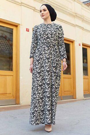 Desenli Çan Kesim Elbise 560VTN-8019-8 - Thumbnail