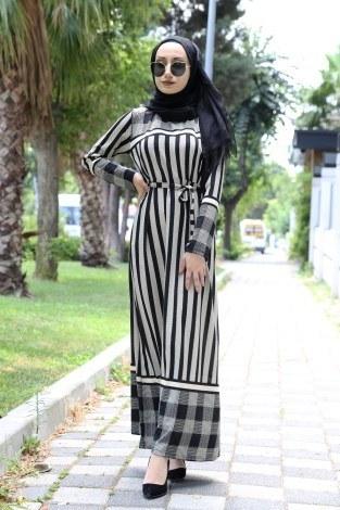 f56836542c2a6 Tesettür Elbise Modelleri ve Fiyatları   Modasena.com
