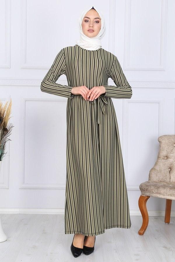 Desenli Elbise 8508-324