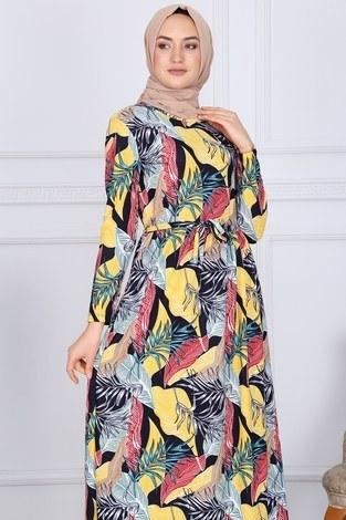 - Desenli Elbise 8508-328 (1)