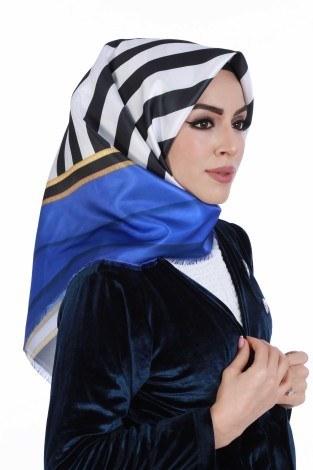 Eşarp ve Şal - Desenli Eşarp 3245-03