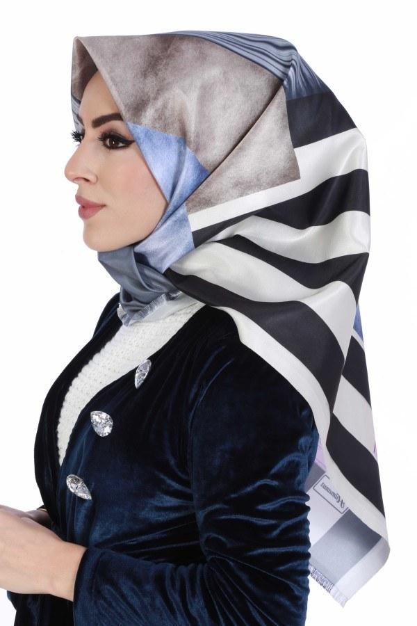 Desenli Eşarp 6281-03