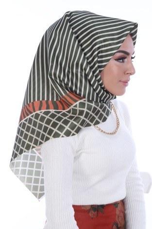 Eşarp ve Şal - Desenli Eşarp 86700-4