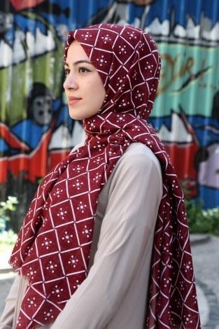 - Dijital Baskılı Cotton Şal 3008-06